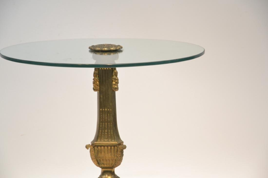 BRONZE & GLASS TOP END TABLE WITH - 3