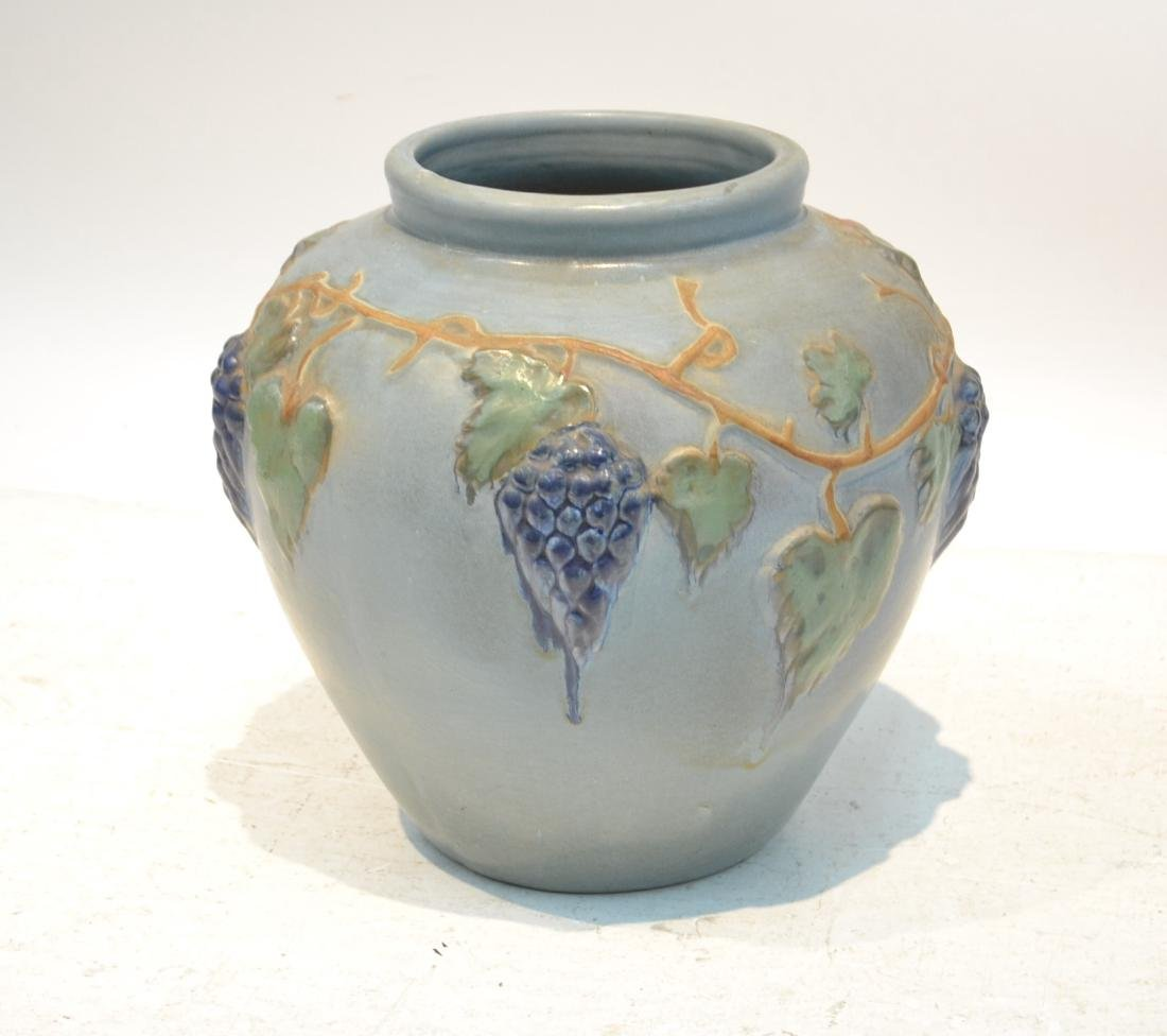 """POTTERY JARDINERE WITH GRAPES -16"""" x 16"""""""