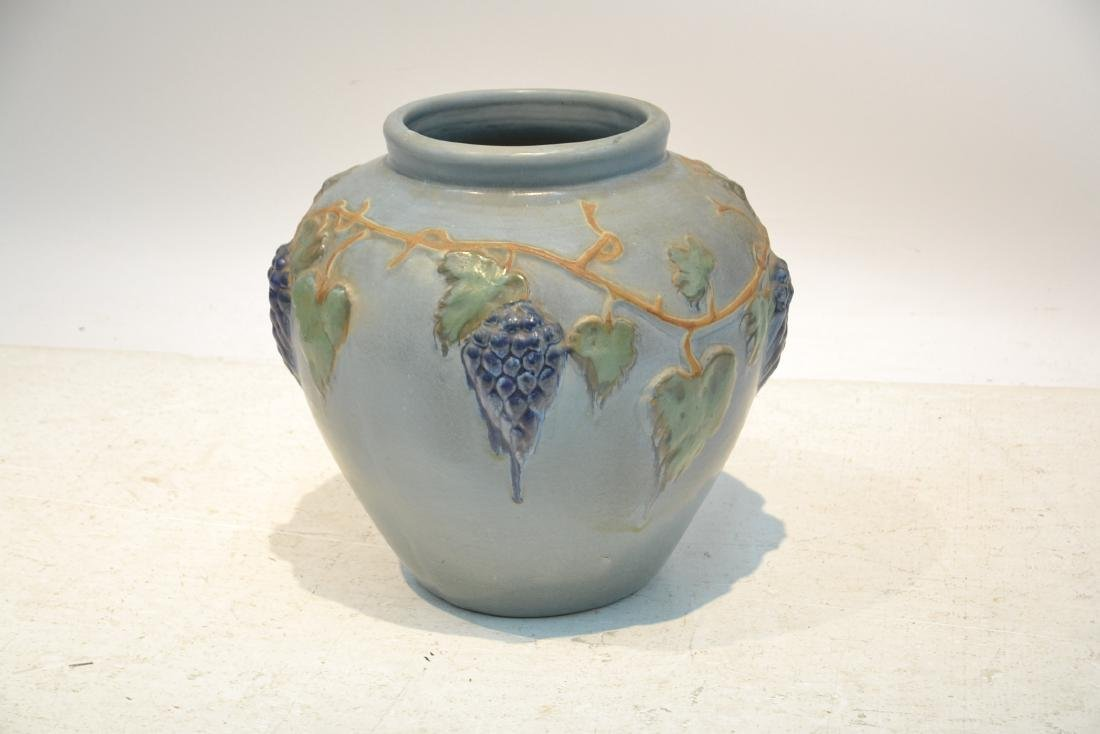 """POTTERY JARDINERE WITH GRAPES -16"""" x 16"""" - 2"""