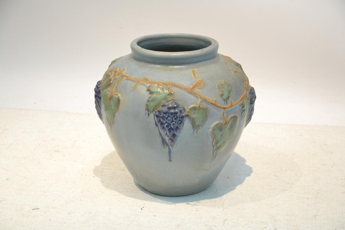 """POTTERY JARDINERE WITH GRAPES -16"""" x 16"""" - 3"""