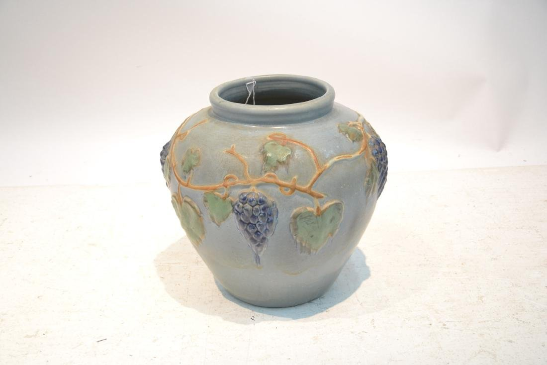 """POTTERY JARDINERE WITH GRAPES -16"""" x 16"""" - 5"""