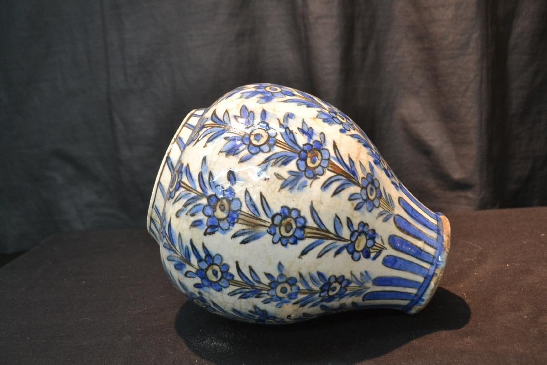"PERSIAN BLUE & WHITE VASE - 8"" x 11"" - 4"