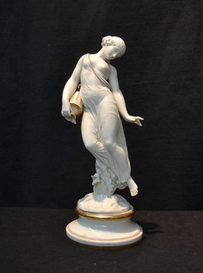 ROYAL WORCESTER FIGURE OF GIRL WITH WATER JUG