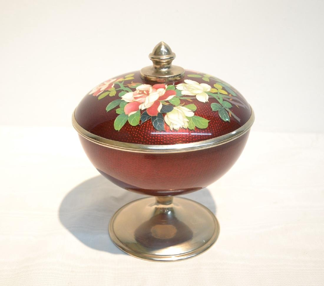 """CLOISONNE COVERED DISH - 6"""" x 7"""""""