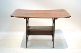 EARLY 19thC AMERICANA FLIP TABLE - BENCH