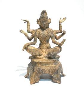 BUDDHIST METAL FIGURE OF VAJRAPANI