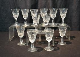 (12) WATERFORD CRYSTAL CLARET GLASSES