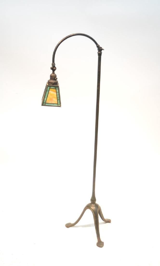 HANDEL ADJUSTABLE BRONZE FLOOR LAMP