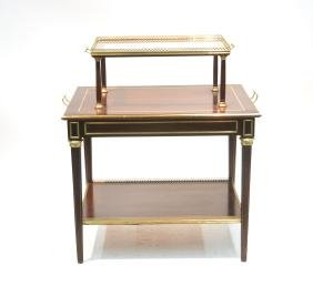 FRENCH LXVI STYLE DESSERT STAND WITH BRONZE