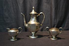 PREISSNER STERLING SILVER TEA SERVICE -