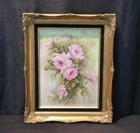 LIMOGES HAND PAINTED PORCELAIN PLAQUE WITH