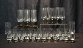 (35)pc OF ASSORTED ROSENTHAL CRYSTAL GLASSES