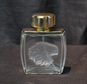 "LALIQUE PERFUME WITH LIONS HEAD - 3"" x 4"""