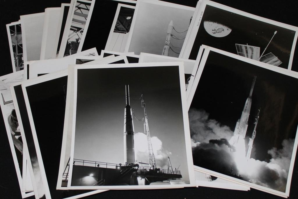 Group of About 70 Early Delta Rocket Photos