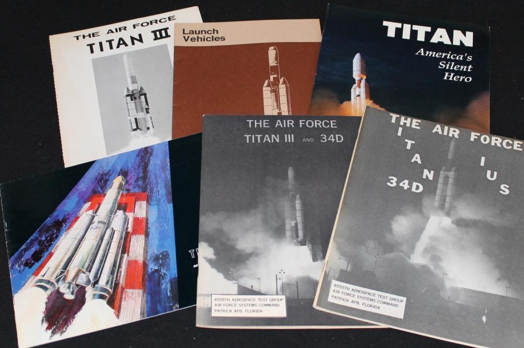 Group of Six Early Titan Booklets
