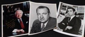 Three Cronkite and Bergman Signed Photos