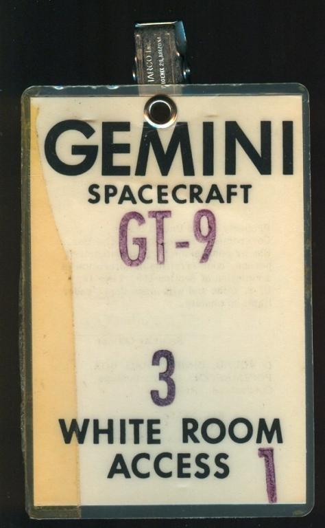 Gemini 9 White Room Access Badge