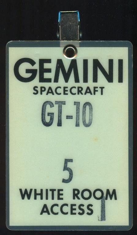 Gemini 10 White Room Access Badge