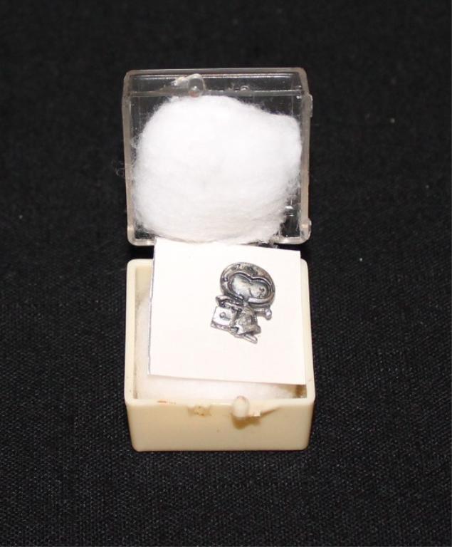 Flown Apollo 11 Silver Snoopy Pin With Paperwork