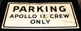Apollo 17 Crew Parking Sign at FCTB