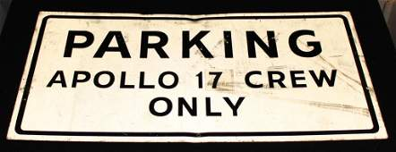 Apollo 17 Crew Parking Sign at FCTB