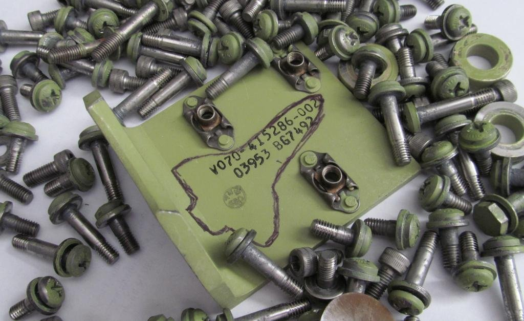 Flown Space Shuttle Brackets Nuts and Bolts - 3