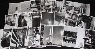 Group of 56 SA-1 to SA-6 Saturn NASA Glossy Photos