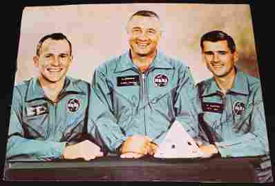 Apollo 1 Crew-Signed Color Photo