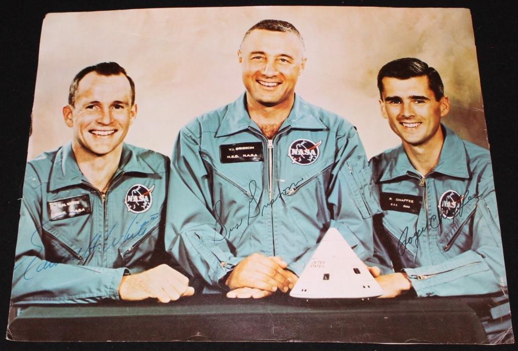 Apollo 1 Crew-Signed Color Photo