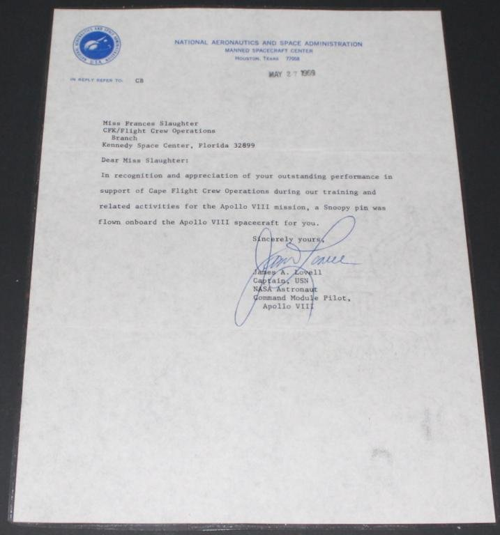Flown Apollo 8 Silver Snoopy With Jim Lovell Letter - 3