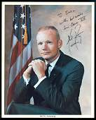 Neil Armstrong Signed NASA Litho