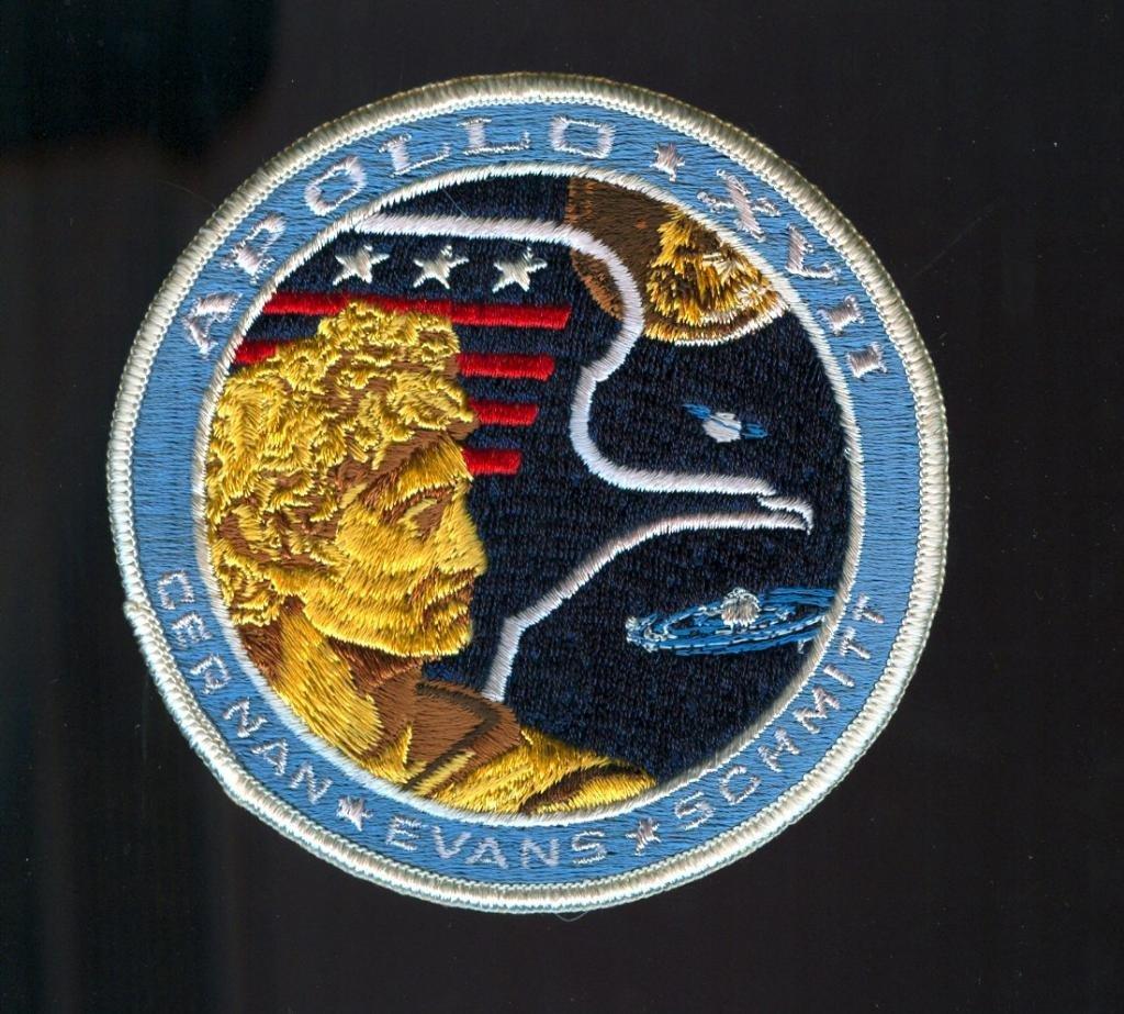 "Vintage Apollo 17 ""White Eagle"" Mission Patch"