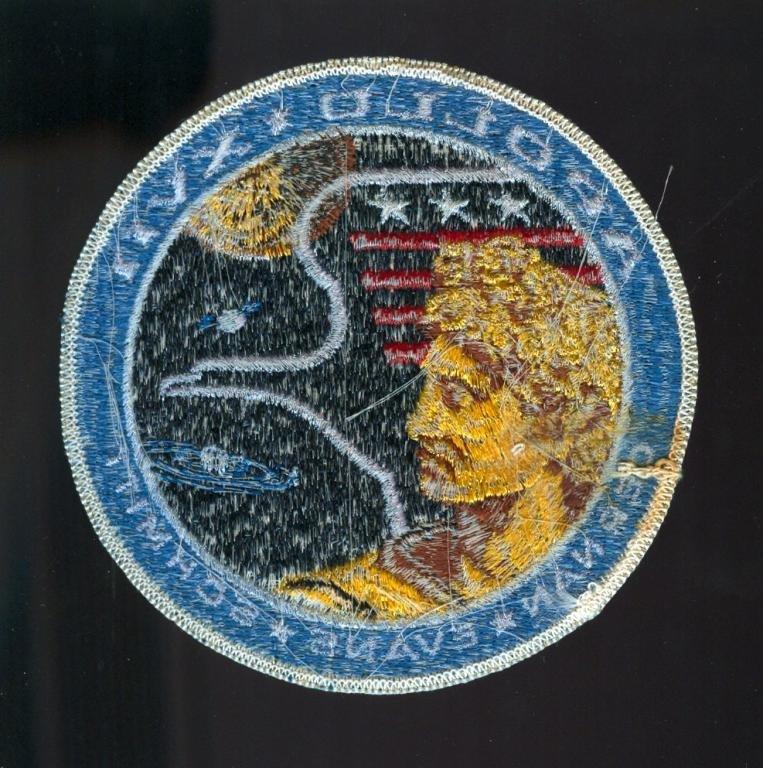 "Vintage Apollo 17 ""White Eagle"" Mission Patch - 2"