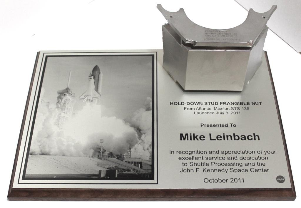 Mike Leinbach's STS-135 SRB Hold-Down Bolt Presentation