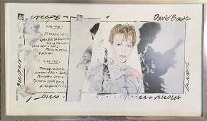 DAVID BOWIE SCARY MONSTERS SIGNED ARTWORK