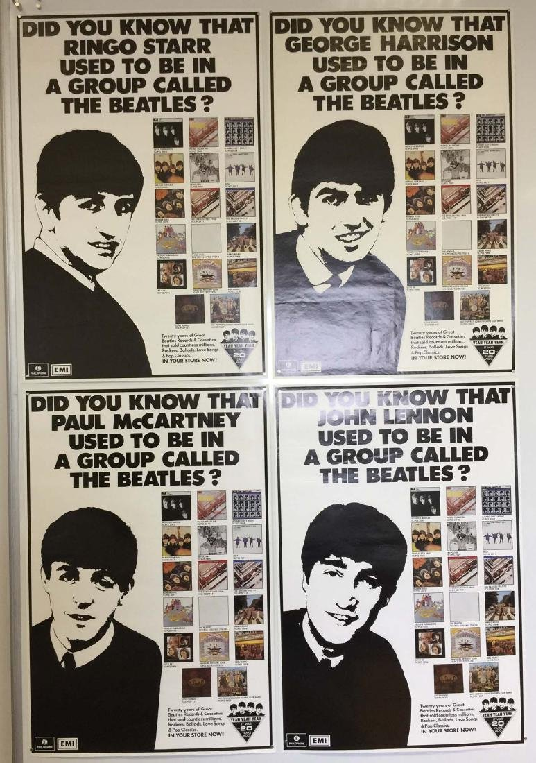 BEATLES POSTERS. To include 5 Beatles posters from the - 2