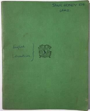 SIR PAUL MCCARTNEY ENGLISH LITERATURE SCHOOL BOOK. An