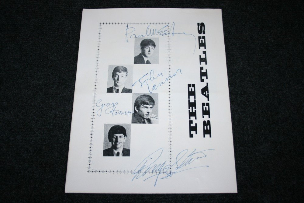 44: BEATLES SIGNED PROGRAMME