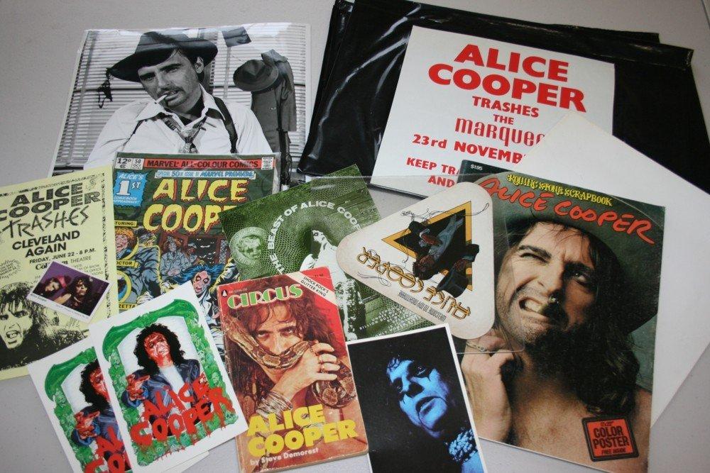 96: ALICE COOPER MEMORABILIA COLLECTION