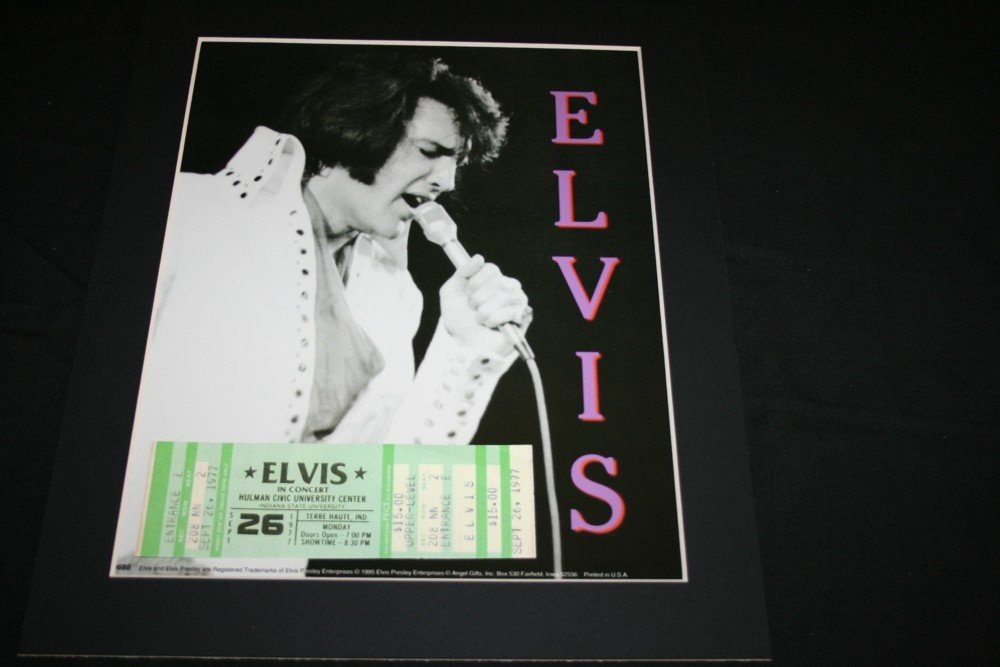 208: ELVIS PRESLEY TICKET