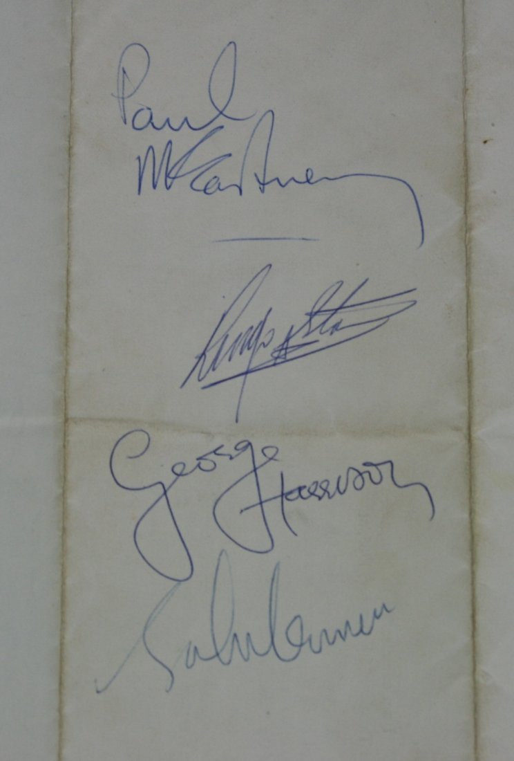 BEATLES M.B.E. AUTOGRAPHS - excellent set of Beatles