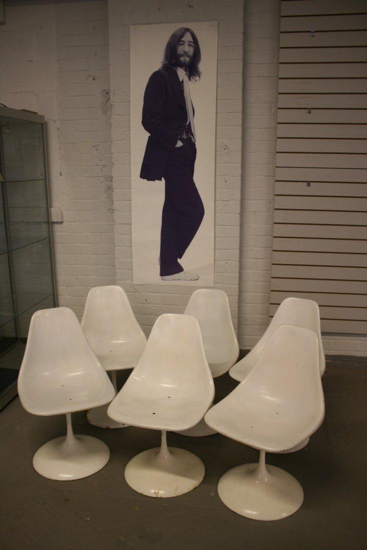 JOHN LENNON - six 1960's Eero Saarinen tulip chairs