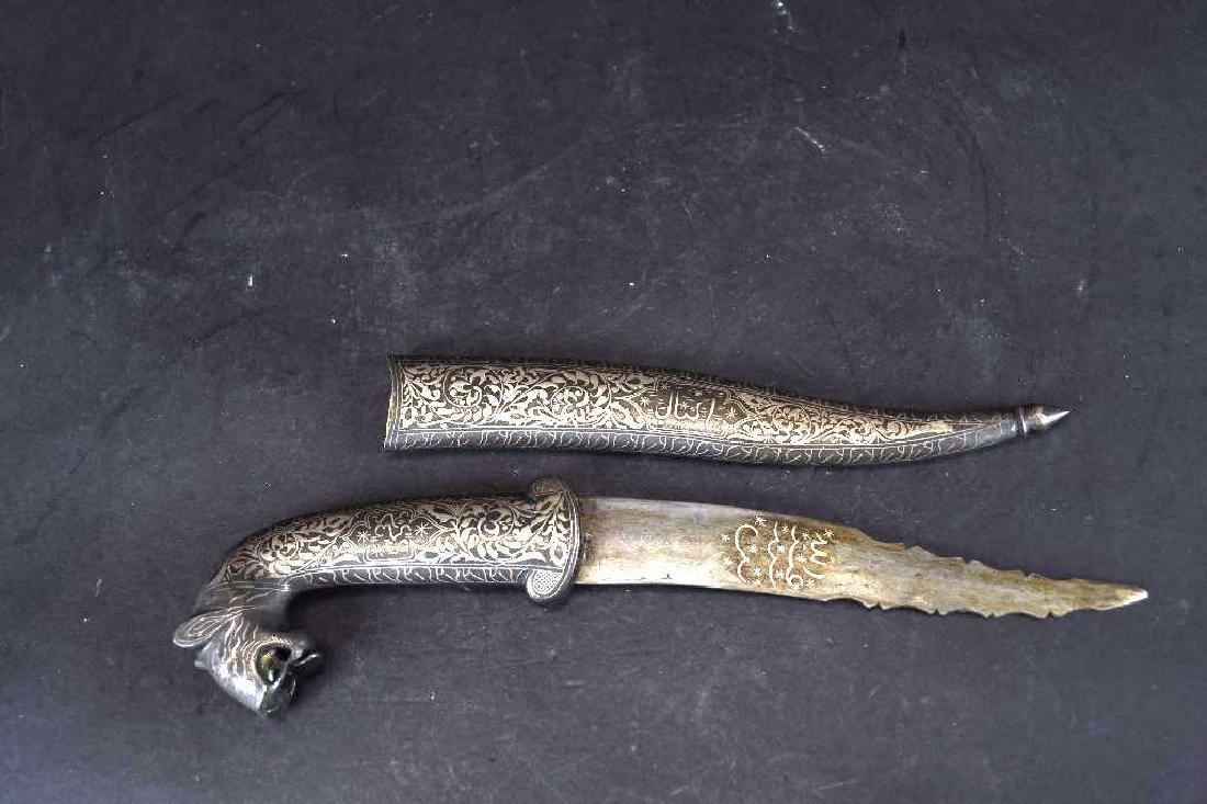 Antique Bidri Inlaid Dagger - 2