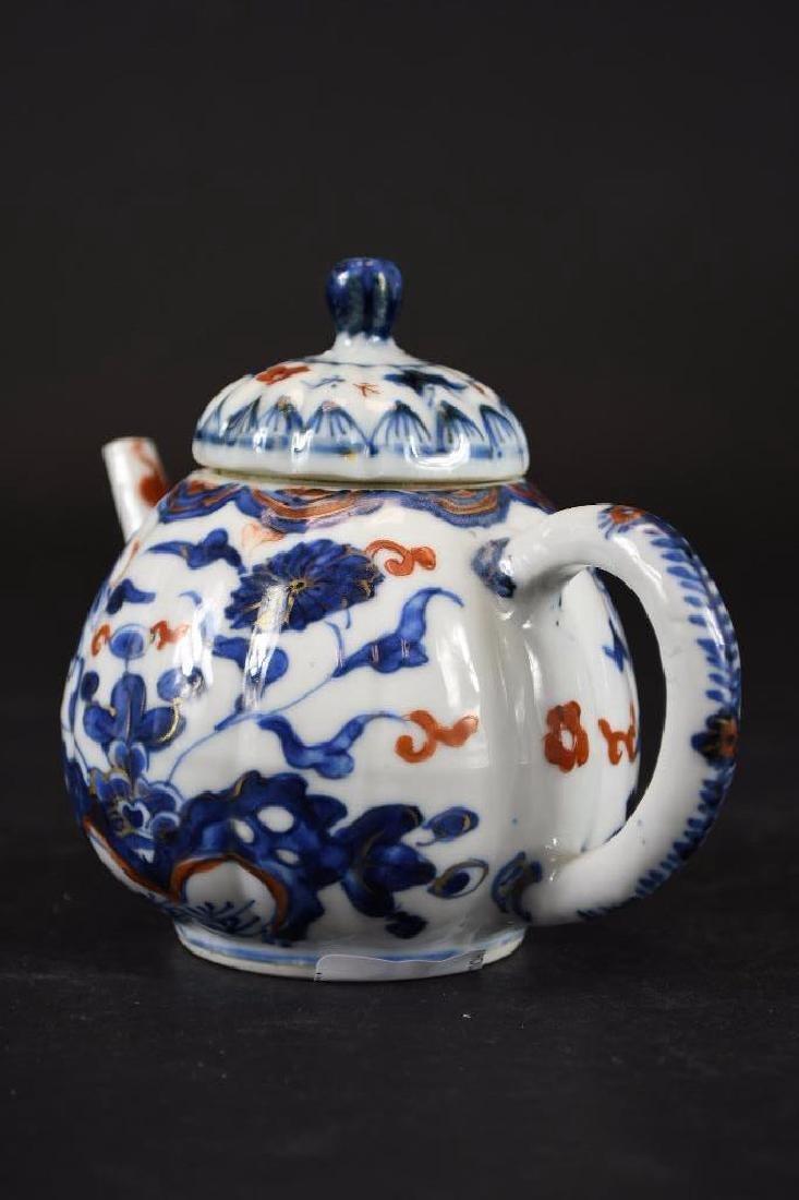 Chinese Imari Blue and White Porcelain Tea Pot - 2