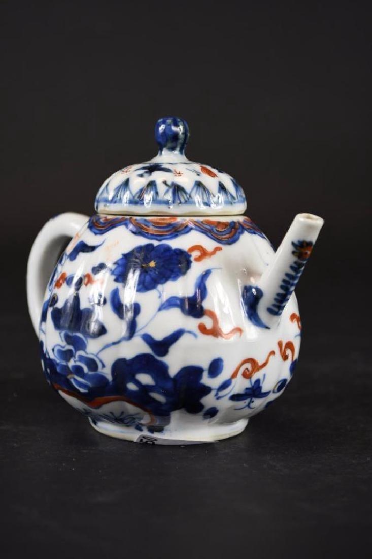 Chinese Imari Blue and White Porcelain Tea Pot - 4
