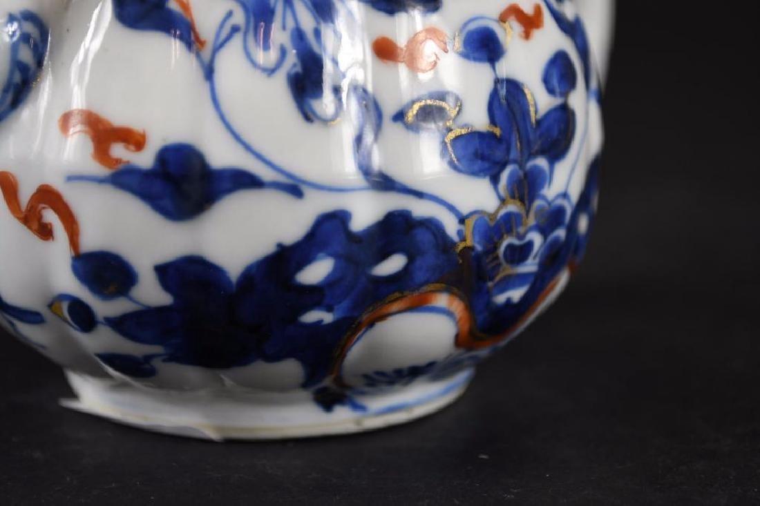 Chinese Imari Blue and White Porcelain Tea Pot - 9