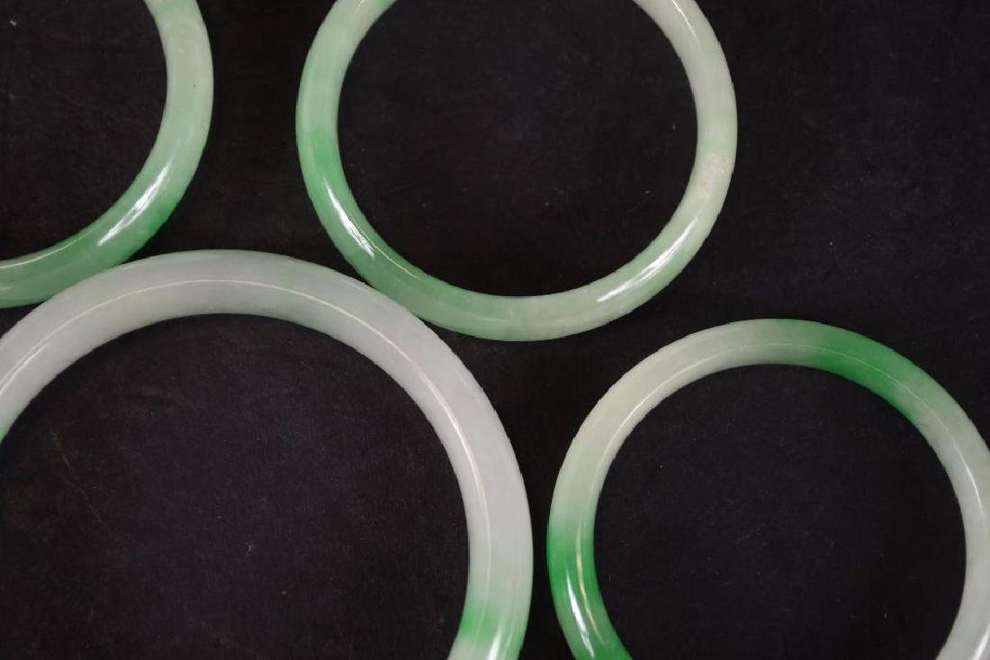 Five Chinese Jadeite Bangles - 3