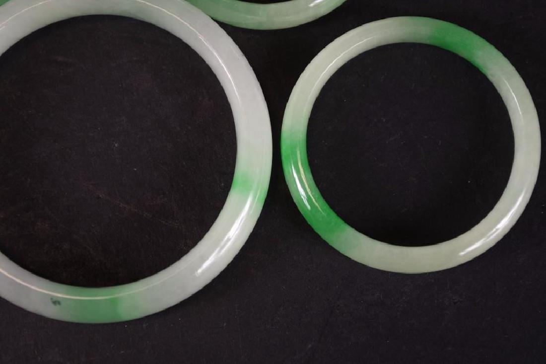Five Chinese Jadeite Bangles - 4