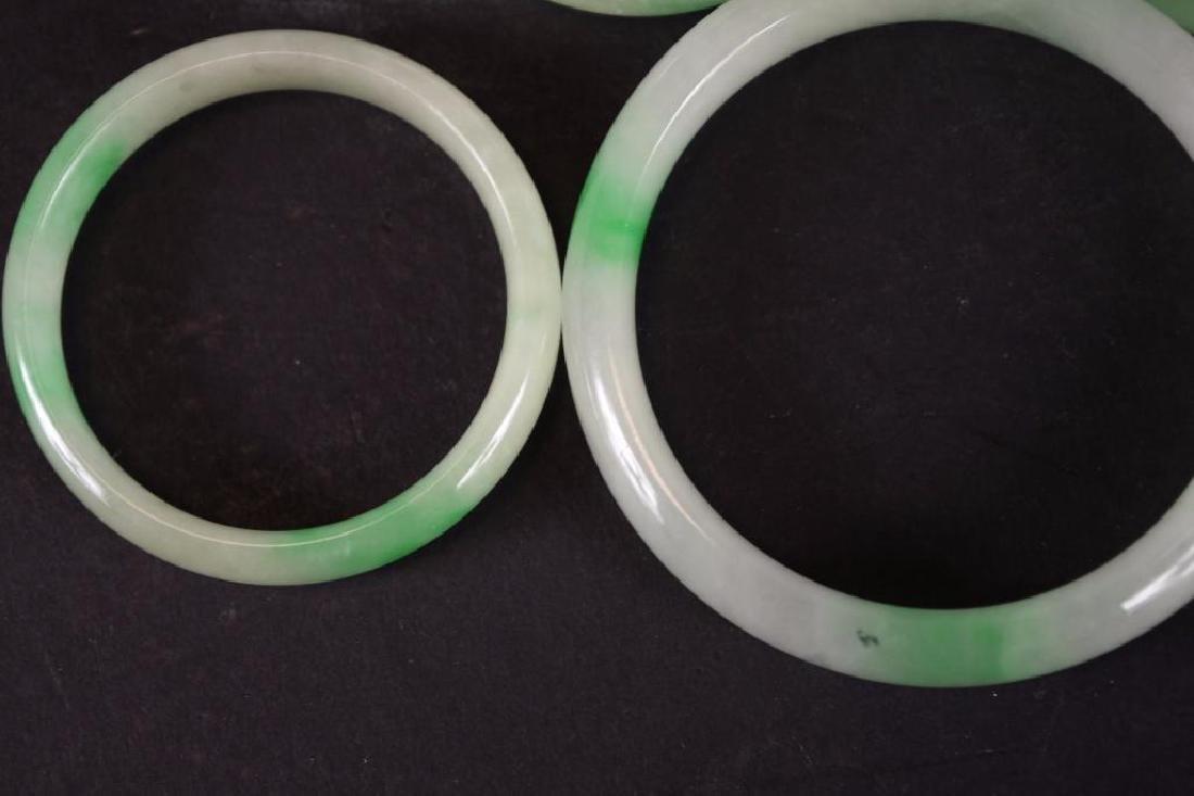 Five Chinese Jadeite Bangles - 5