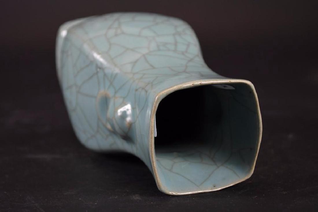 Chinese Celadon Glaze Porcelain Vase - 5
